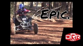 Mini Quads Doing Donuts DRX 50 and 90cc ATV