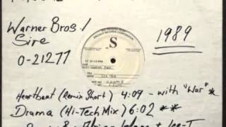 Ice T with War - Heartbeat (Long Remix) ( Speciality Record Corp. 1989 )