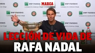 ¿Igualar a Federer? Nadal da otra lección de vida con su respuesta