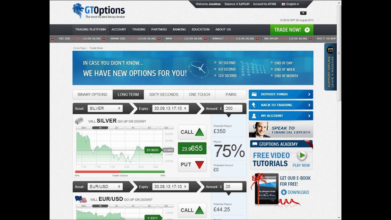 Binary options long term