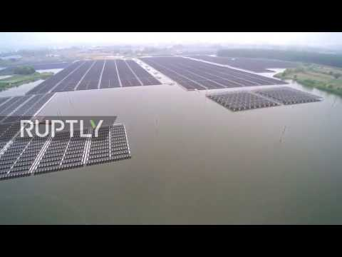 China: Drone shows world's largest floating solar plant up and running in China