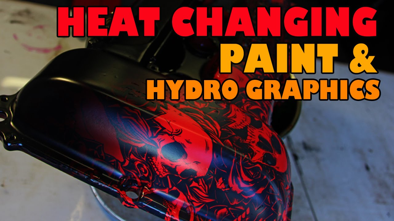 Heat Activated Paint Heat Changing Paint And Hydrographics Youtube