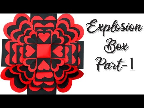 How to make Explosion box | DIY Explosion Box | explosion box tutorial | handmade explosion box