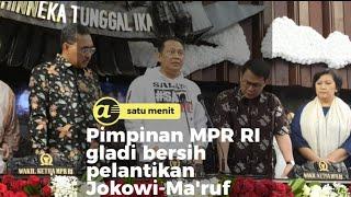 Gladi bersih pelantikan Jokowi-Ma'ruf