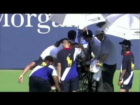 Victoria Azarenka Collapse At US Open