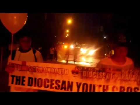 Diocesan Youth Cross Visits St. Peregrine Laziosi Diocesan Shrine