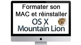 Comment formater son MAC et réinstaller MAC OS X 10.8 Mountain Lion ?