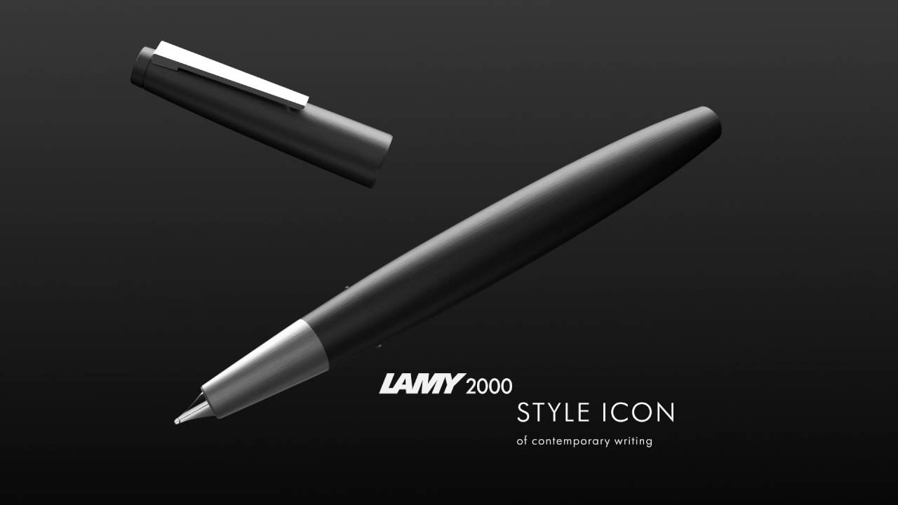 Lamy 2000 M Black Amber 50th Anniversary Limited Edition Youtube