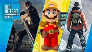 Final Fantasy 15, Super Mario Maker, Steep - New Releases