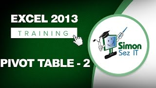 Working with Pivot Tables in Excel 2013 - Part 2 - Learn Excel Training Tutorial thumbnail