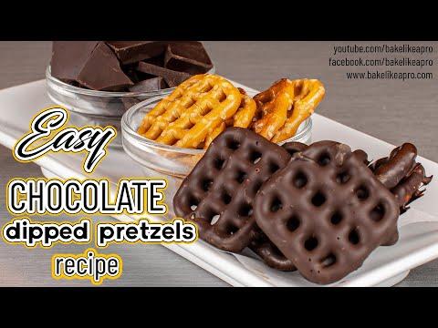 Easy Chocolate Covered Pretzels Recipe