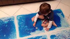 PLAYLEARN Liquid Floor Tiles - (Blue)