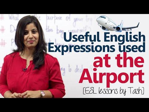 Biểu thức tiếng Anh hữu ích được sử dụng tại sân bay - Bài học tiếng Anh miễn phí