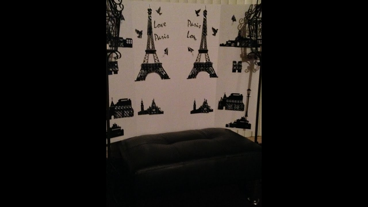 DIY PARIS THEME ROOM DECOR VIDEO BACKGROUND