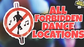 Fortnite - ALL FORBIDDEN DANCE LOCATIONS ( Battle Pass Week 2 Challenges )