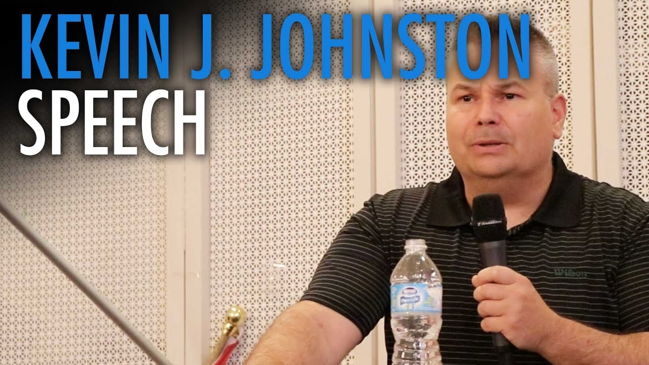 Defiant Kevin Johnston speaks at Toronto Zionist Centre