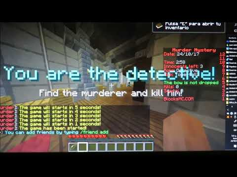¡Jugando Murder Mystery!-Server no premium-Minecraft-Go Clash 123