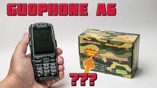 Дешевый ударопрочный телефон Guophone A6! 9800 mAh???
