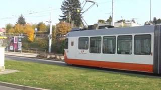 Trams de Genève : 2007-2010 ... les derniers en orange.wmv