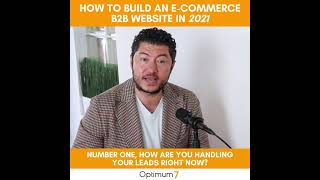 How to Build an eCommerce B2B Website in 2021
