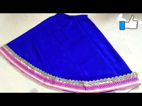 Umbrella Lehenga Cutting And Stitching With Lace Designs