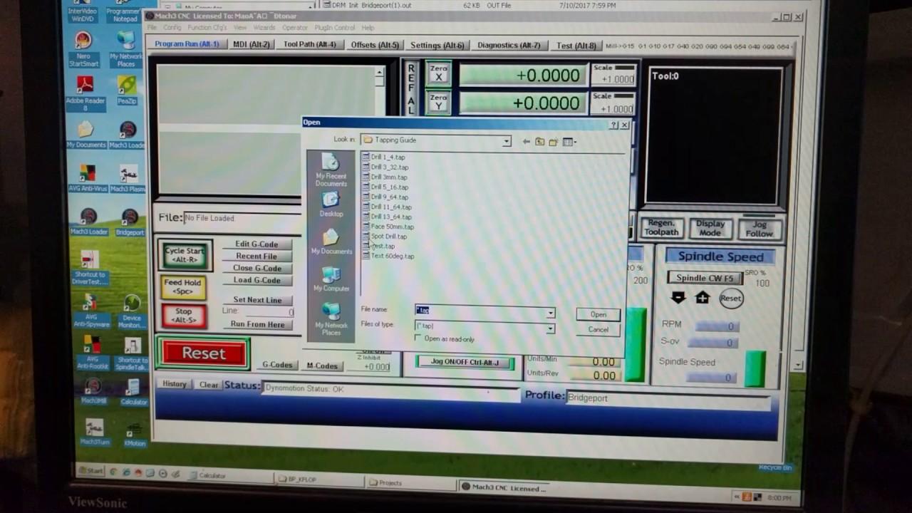 KFLOP mpg Mach3 video 3