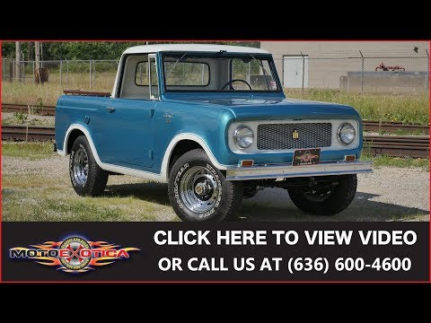 1964 International-Harvester Scout 80 4X4 Half Cab