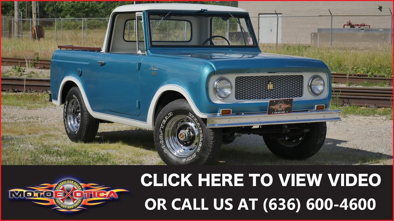 1964 International Harvester Scout 80 4x4 Half Cab Sold Youtube