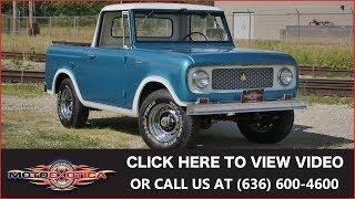 1964 International-Harvester Scout 80 4X4 Half Cab    SOLD