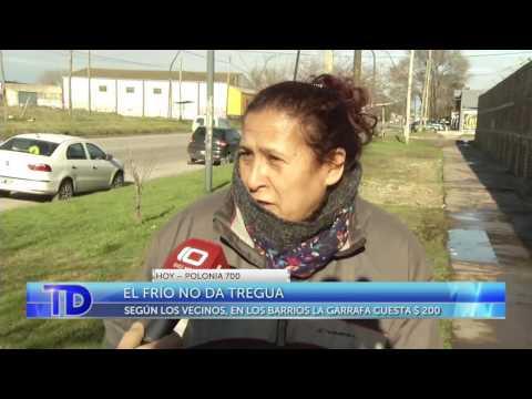 Las bajas temperaturas se instalaron definitivamente en Mar del Plata y el consumo de garrafas de 10 kilos aumentó este fin de semana. En la distribuidora de Polonia al 700, se consigue a $135, cuando en los barrios se vende a más de $200.