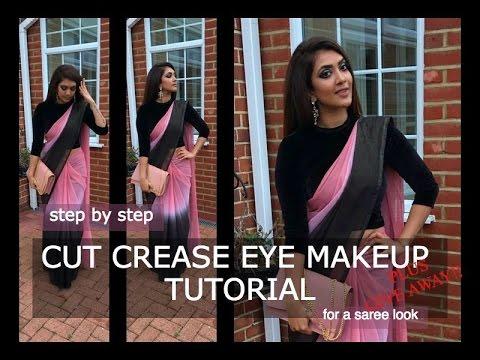 cut crease eye makeup tutorial  vithya hair and makeup