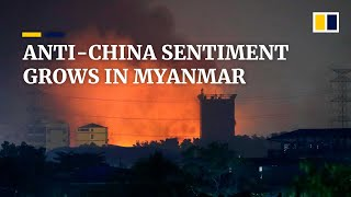 Fires set at Chinese factories in Myanmar during deadliest day of anti-coup protests
