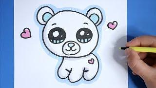 Kawaii Eisbär malen - Kawaii Bilder zum Nachmalen