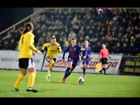 Barcelona Femení vs Gintra 3:0 Women's Champions Ligue 1/8 Final