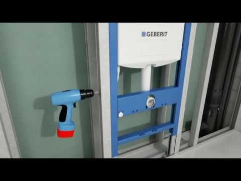 Geberit wc frame system youtube for Geberit toilet system