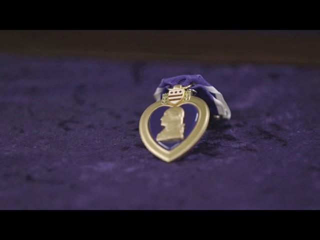 First Lady Melania Trump Presents the Purple Heart