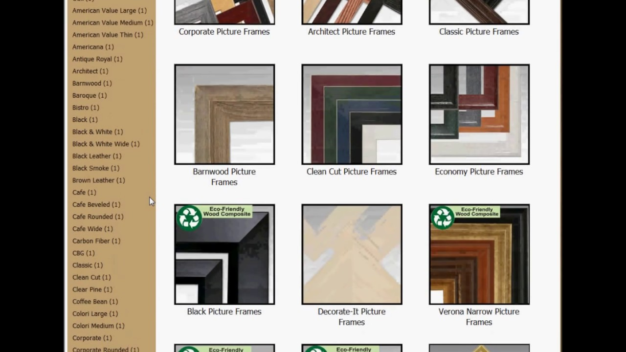 Custom Framing Tutorial - Ordering Custom Picture Frames - YouTube
