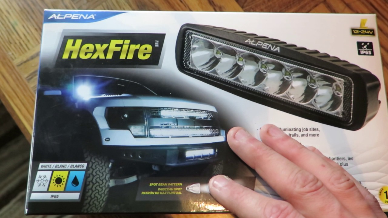 maxresdefault review of the alpena hexfire led light bar youtube alpena install kit wiring diagram at reclaimingppi.co