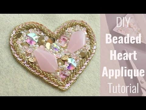 DIY Beaded Heart Applique Tutorial - For Dance Costumes, Wedding, Decor
