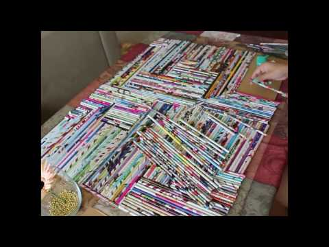 How to create a wall art with old magazines.