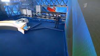 Окончание футбольного матча и начало программы Время в 21 45 Первый канал 2 07 2021
