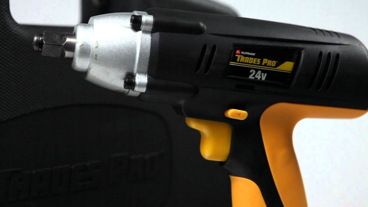 Trades Pro 24V 1/2-in. Cordless Impact Wrench Video - Pep Boys - YouTube
