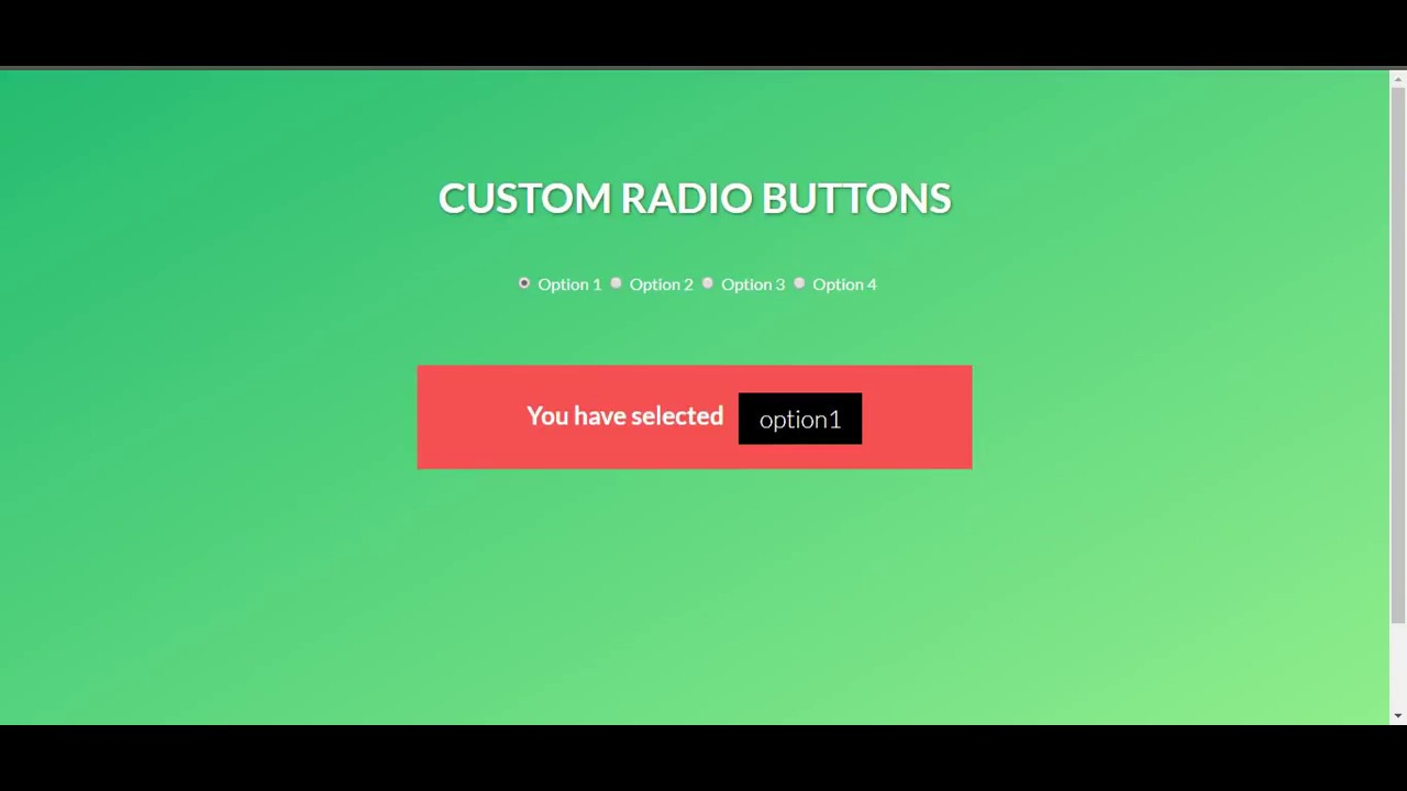 Beautiful Custom Radio Input - Easy CSS Tips & Tricks