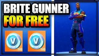 *NEW* HOW TO GET BRITE GUNNER SKIN FOR FREE W/ BRITE BAG ON FORTNITE BATTLE ROYALE - GET FREE SKINS