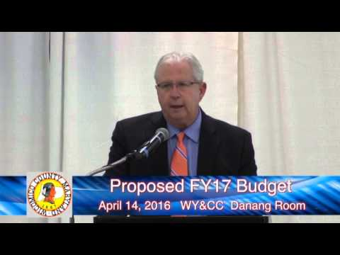 Wicomico County Executive FY 17 Budget Proposal