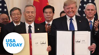 President Trump to sign 'Phase One' of China trade deal   USA TODAY