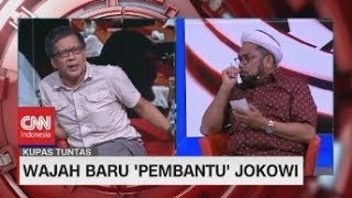 Seru! Debat Ngabalin vs Rocky Gerung Soal Kabinet Baru Jokowi