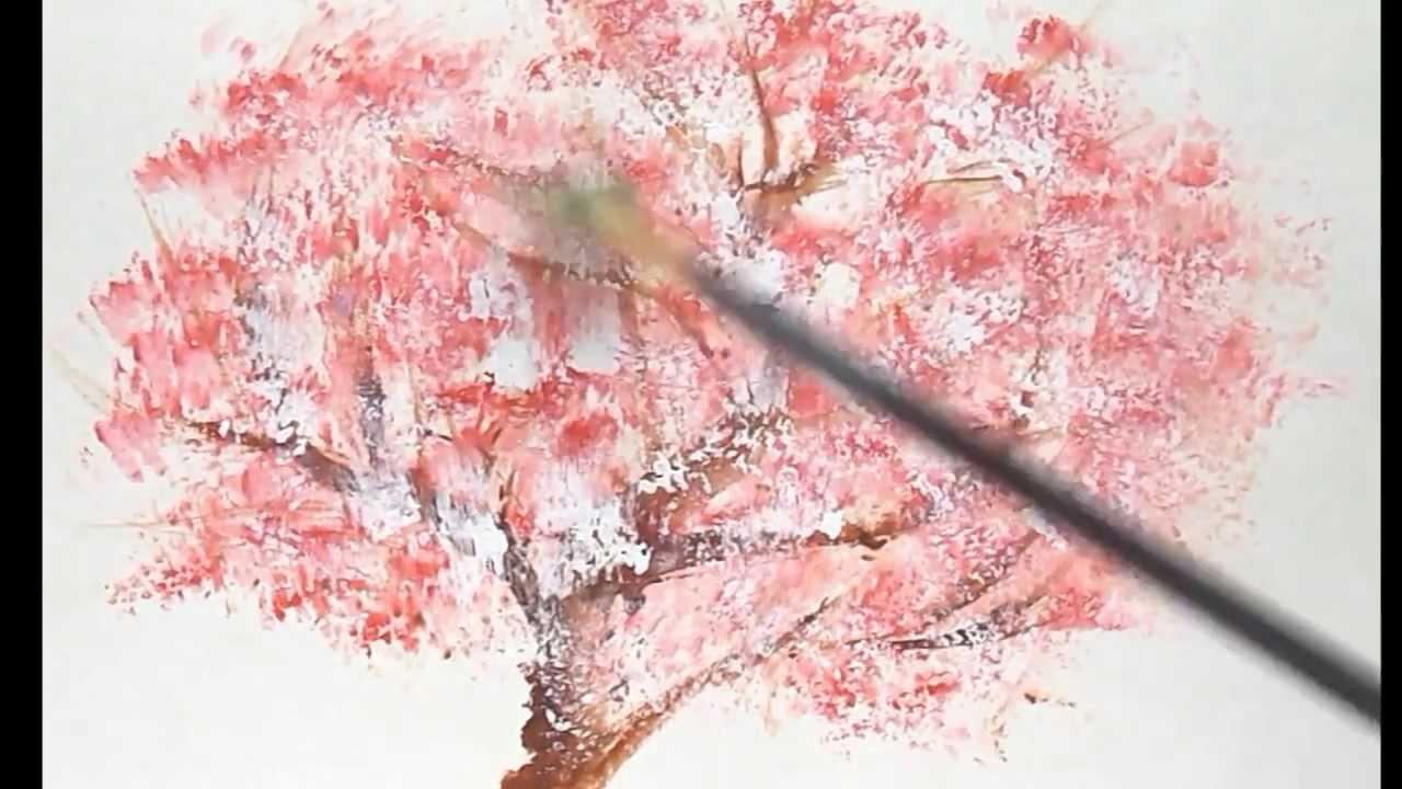 超初心者のための桜の木の描き方(インターネット絵画教室ぴかちょ)