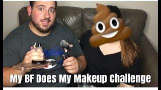 My Boyfriend Does My Makeup Challenge