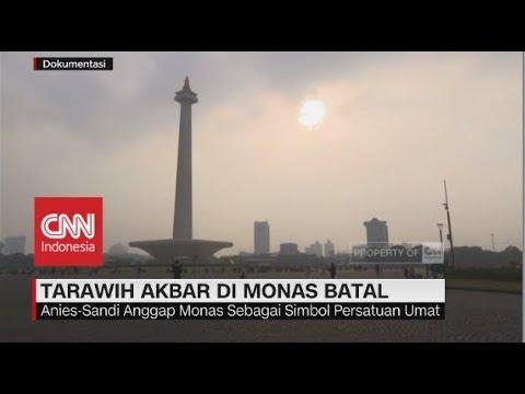 Tarawih Akbar di Monas Batal